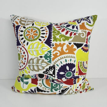 Decorative Pillow Cover, Mult-Colored Throw Pillow Cushion, 16 x 16, 18 x 18
