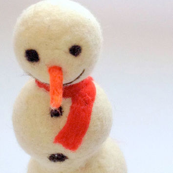 Needle felt Snowman Holiday Home Decor