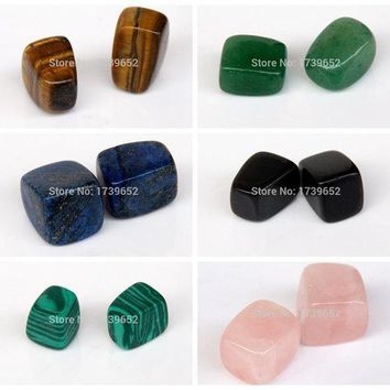 PEAP78W Assorted Natural stone Tumbled Stones Crystal Quartz Aventurine Obsidian Points Beads Chakra Healing Reiki