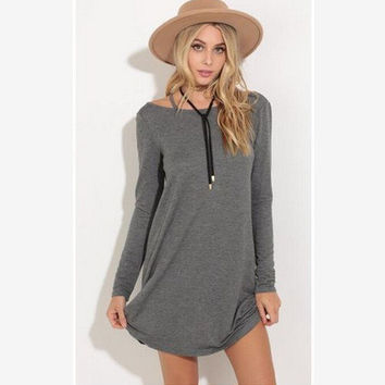 Winter Long Sleeve One Piece Dress [7976011201]