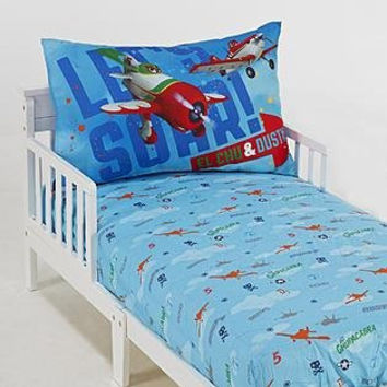 Disney Planes 2 Piece Toddler Bed Set - Fits Toddler or Crib Mattress