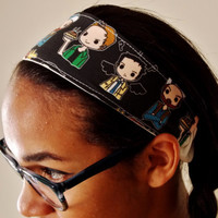 Fandom Headband. Fanart Headband. Supernatural Inspired Headband. Clarence, Pie Man, Old Drunk. Adult Size Cloth Headband. Fangirl Item.