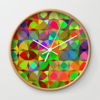 Giribiri green Wall Clock by mirimo