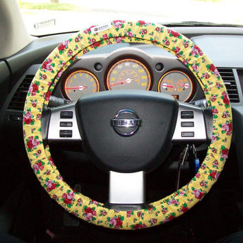 Fun Floral Steering Wheel Cover