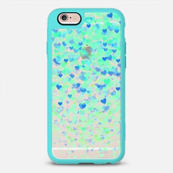 Aqua & Blue Ombre Hearts iPhone 6s case by Noonday Design | Casetify