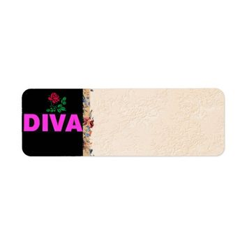Diva Address Label