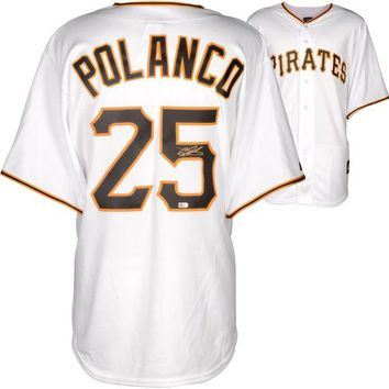 DCCKJNG Gregory Polanco Signed Autographed Pittsburgh Pirates Baseball Jersey (MLB COA)