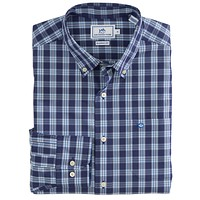 Port Royal Plaid Sport Shirt in Blue Night by Southern Tide - FINAL SALE