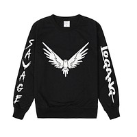 Pkorli Vavage Maverick Hoodies Men Women Logang Jake Paul Crewneck Sweatshirt Casual Long Sleeve Maverick Bird Print Sweatshirt
