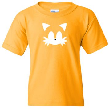 TurnTo Designs - Sonic the Hedgehog TAILS Vinyl Golden T-Shirt