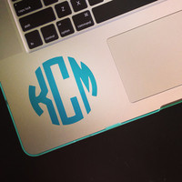 Vinyl Personalized Monogram Decal Sticker - Circle Monogram - Vine Monogram - DIY - Great for car Window, laptop, cell phone, notebook