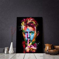 David Bowie Rock Roll Abstract Wall Art Print on Canvas Framed UNframed