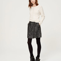 Shimmer Tweed Skirt | LOFT