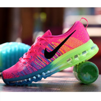 """NIKE"" Trending Fashion Casual Sports Shoes Gradient Rose red G"
