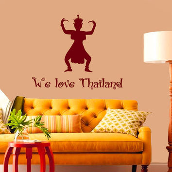 Wall Decals We Love Thailand Quotes People Travel Countries Asia Thai Dancing Thai Art Any Room Vinyl Decal Sticker Home Decor Murals  ML135