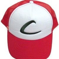 Pokemon Ash Mesh Cap Adult hat League Expo