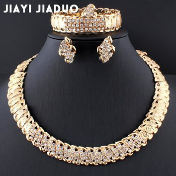 African Wedding Jewelry Dubai Gold color Jewelry Sets