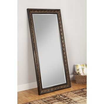 Sandberg Furniture Andorra Full Length Leaner Cognac Ash Finish Mirror | Overstock.com Shopping - The Best Deals on Mirrors
