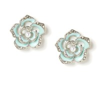 Flower Outline Stud Earrings  | Icing