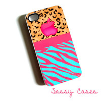 SALE iPhone 4 / 4S Case Cheetah Print Hard Plastic Case