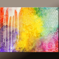 Abstract Canvas Art Painting 30x24 Original Contemporary Paintings by Destiny Womack - dWo - Trials XXXVI