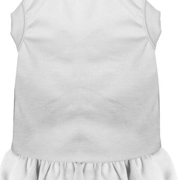 Plain Pet Dress White 4x (22)