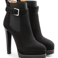 Suede Ankle Boots with Gripped Sole - Sergio Rossi | WOMEN | KR STYLEBOP.COM