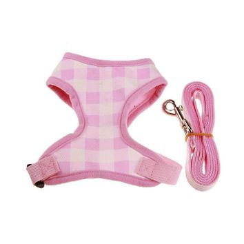 New Small large dog harness vest + leash Set Breathable comfortable Canves Pet dog leash big dog harness S/M/L/XL For Chihuahua