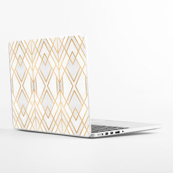 Golden Geo Laptop Skin