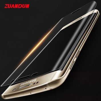 ZUANDUN 3D Full Coverage Screen Protector For Samsung Galaxy Note 8 S8 S8 plus S7 Edge S6 Edge Soft PET Protection Full Film