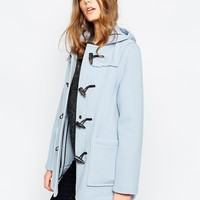 Gloverall Short Duffle Coat in Sky Blue at asos.com