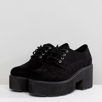 ASOS MEGA Wide Fit Chunky Lace Up Heels at asos.com