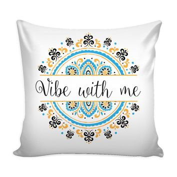Yoga Zen Meditation Graphic Pillow Cover Vibe With Me