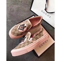 2018 Original GUCCI Fallow shoes with one foot and flat bottom