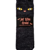 Shea-Infused Lounge Socks Critter Cat