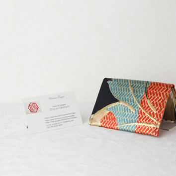 Bamboo cushion cover quotblossoms on from kimonotango on business card case colorful blossoms kimono business card case japanese business card colourmoves
