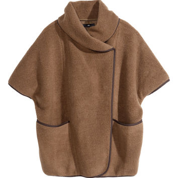 H&M - Wool-blend Cape - Camel - Ladies
