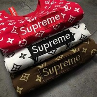 Supreme ×LV New Fashion Sport round collar short sleeved T - shirt