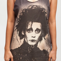 Edward Scissorhands JOHNNY DEPP T Shirt Celebrity Movie Women Black T-Shirt Vest Tank Top Singlet Sleeveless Size S M