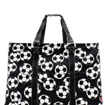 Utility Tote Extra Large - Soccer Print