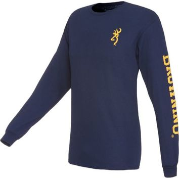 Browning Men's Long Sleeve Buckmark T-shirt | Academy