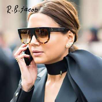Classic Super Star Kim Kardashian Women Sunglasses Brand Designer celebrity Flat Top Shades Sun Glasses Female CL Shadow