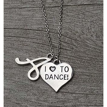 Love to Dance Initial Necklace