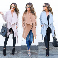 Women Warm Fashion Hooded Long Coat Jacket Trench Windbreaker Parka Outwear