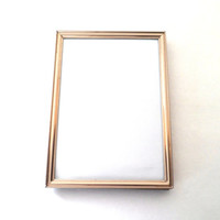 Gold Picture Frame - Table Photo Frame,Metal Photo Frame,5x7 Frame,Hanging Frame,Brass Picture Frame,Vertical Photo Frame,Horizontal Frame