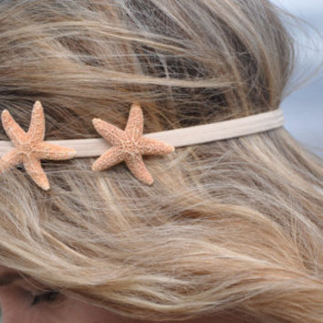 Starfish Headband with TWO Starfish Hippie Headwrap Mermaid Hair