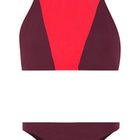 Flagpole Swim - Shay cutout two-tone bikini