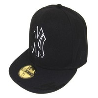 New York Yankees New Era MLB Authentic Collection 59FIFTY Hat Black-White