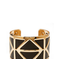 Geo Faux Leather Cuff