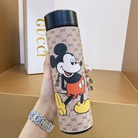 GUCCI New Ms. Mickey Mouse Double G Printed High-end Thermos Cup
